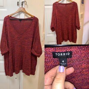 Torrid V-neck sweater blouse